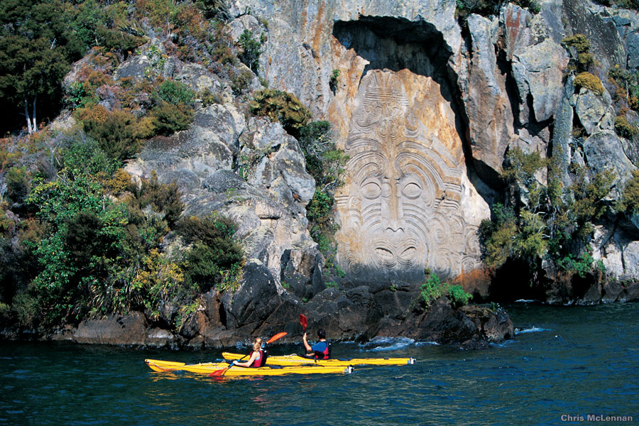 Carvings at Mine Bay Lake Taupo