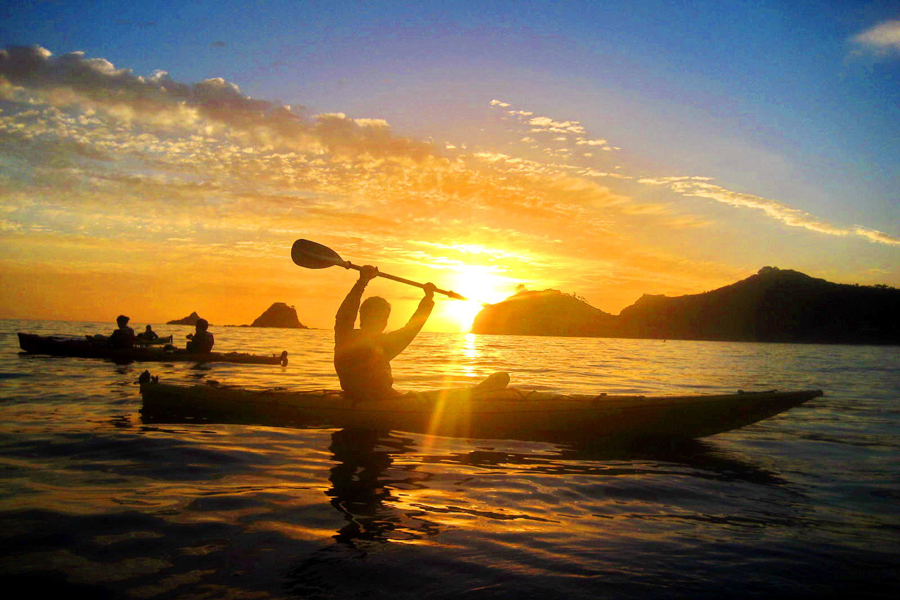 Cathedral Cove Sea Kayaking Tours Sunset