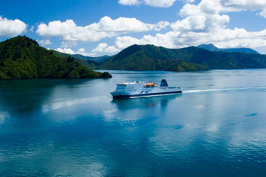 Ferry in Marlborough Sounds
