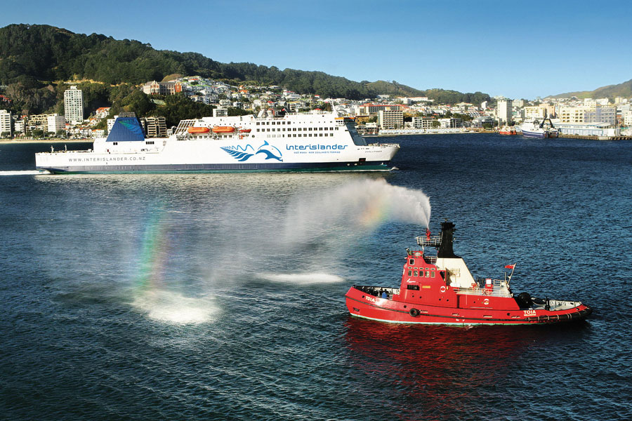 Ferry in Wellington