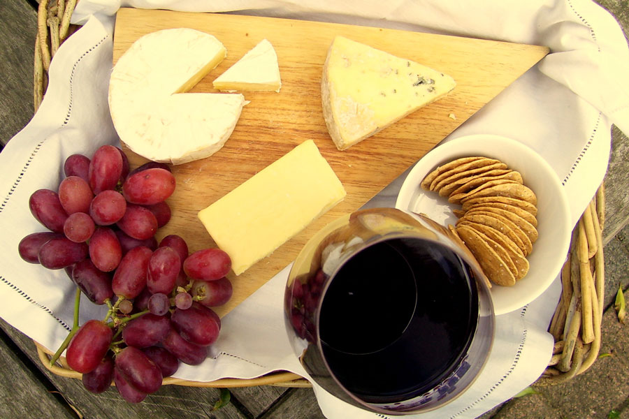 Fine Wine Tours Cheese Platter