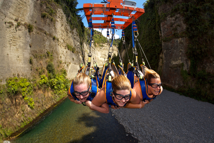 Mokai Gravity Canyon Bungy Jump Swing Flying Fox
