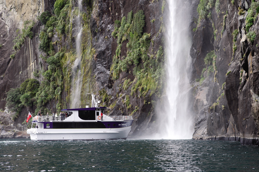 Milford Sound Nature Cruise Waterfall