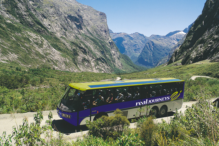 Milford Sound Road by Coach