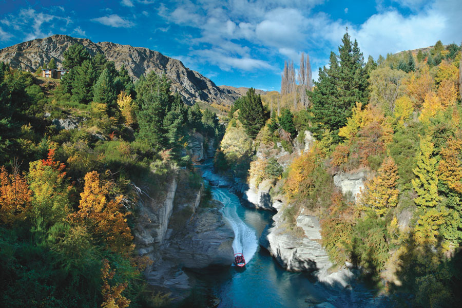 Shotover Jet Queenstown Autumn