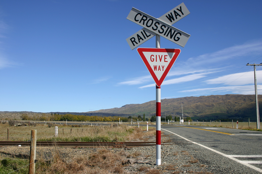 Taieri Gorge Train Railway Crossing