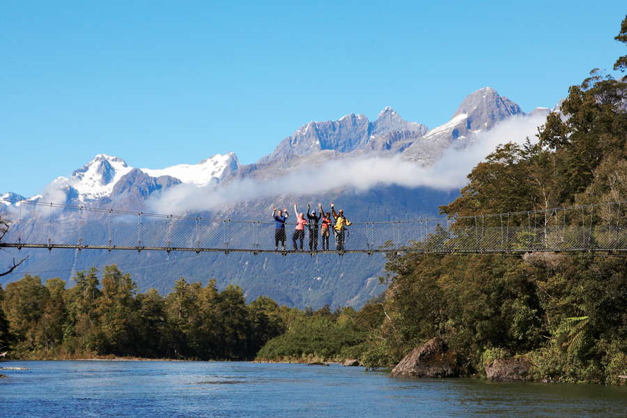 Hollyford Pyke River Swingbridge
