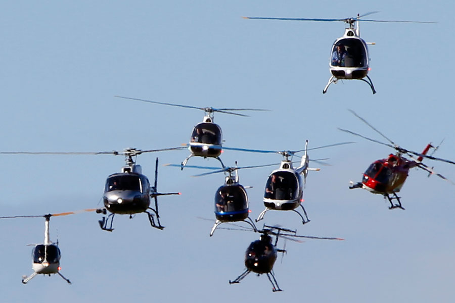 Helicopter Display Warbirds Over Wanaka