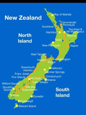 New Zealand Must See Map.New Zealand Must See Map Twitterleesclub