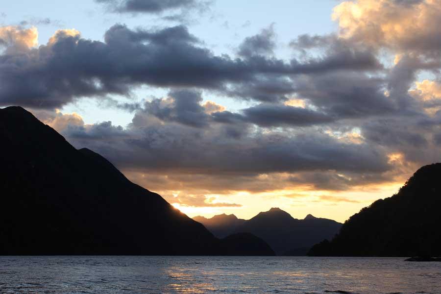 Deep Cove Charters Doubtful Sound Evening Sunset