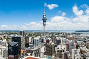 auckland sky tower new zealand north island self drive itinerary